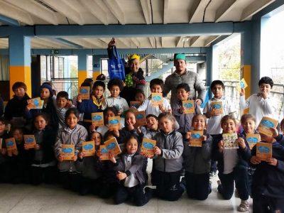 Con actividades lúdicas estudiantes de La Granja reciben mensaje del Mes de la Prevención