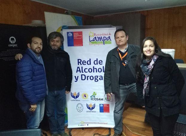 SENDA Previene Lampa encabeza reunión de la Red Comunal de Drogas