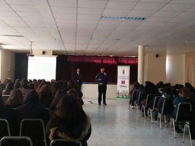 SENDA Previene Nuñoa y la PDI realizan charlas preventivas a estudiantes