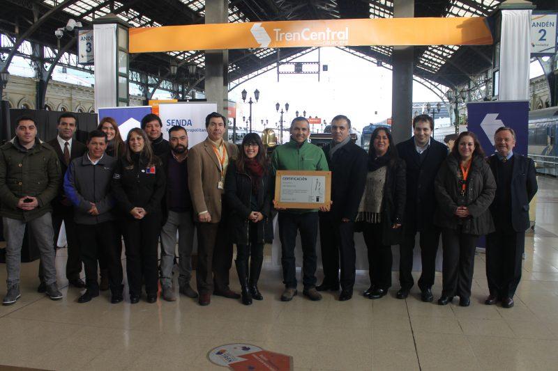 SENDA certifica a Tren Central por programa Trabajar con Calidad de Vida