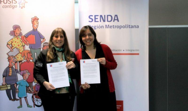 FOSIS y SENDA firman convenio para beneficiar a familias vulnerables de la región