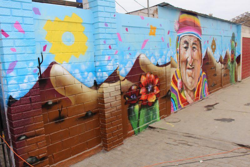 Mural Preventivo de SENDA Previene Arica le da nueva cara al Terminal Internacional