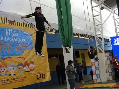 Alumnos de la escuela de Macul protagonizaron conmemoración del Mes de la Prevención