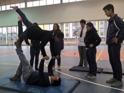 Estudiantes del Colegio de Cultura y Difusión Artística de La Unión aprende arte circense para buen uso del tiempo libre