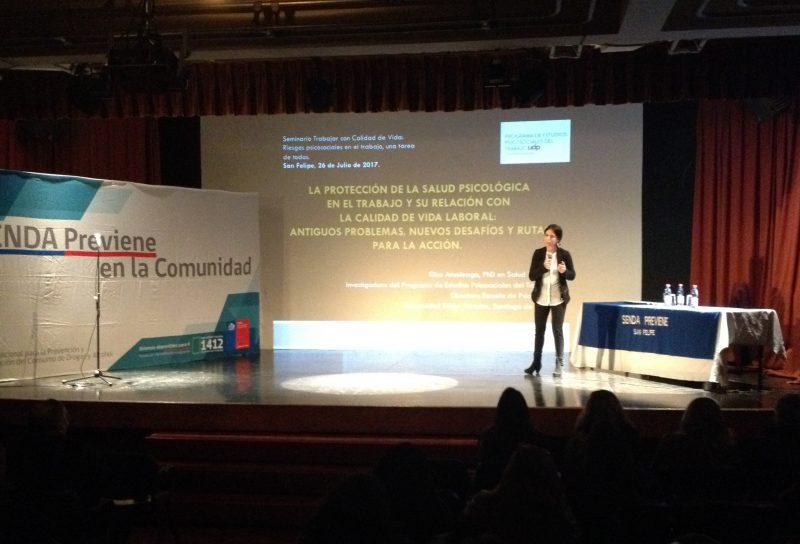 """SENDA Previene San Felipe realizó II Seminario """"Trabajar con calidad de vida"""""""