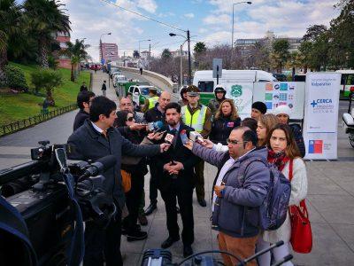 Autoridades regionales de Valparaíso llaman a no manipular el celular mientras se conduce