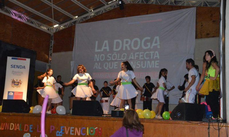 Con música y baile se conmemora el Mes de la Prevención en Curacaví