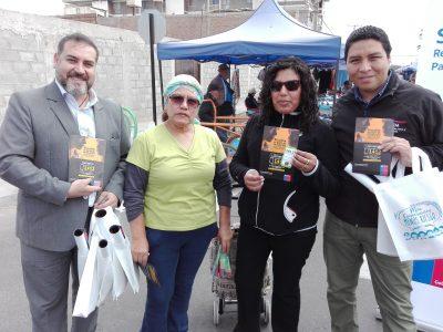 Difusión de campaña en Feria Itinerante 1 de mayo de Arica