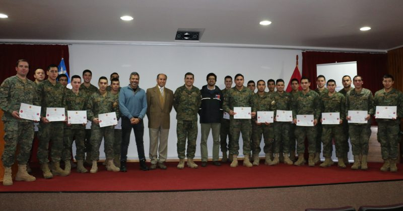 Senda Aysén capacitó a Funcionarios de la IV División de Ejército como Monitores en Prevención del Consumo de Drogas y Alcohol
