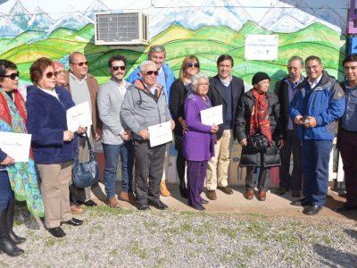 Con inauguración de plazuela en Barrio Alonso de Ercilla SENDA Previene Los Andes cierra actividades por el mes de la Prevención