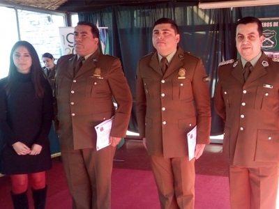 30 Carabineros de la Prefectura Aconcagua fueron capacitados como monitores en prevención de consumo de drogas