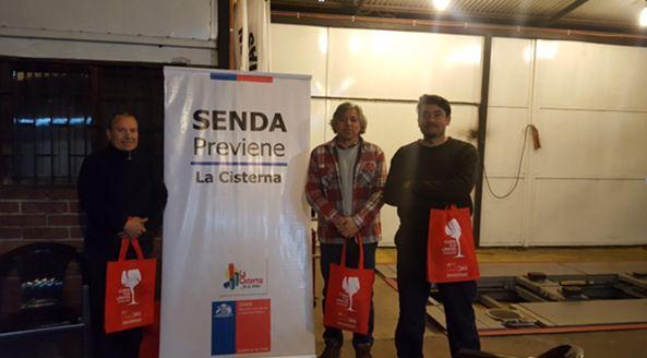 SENDA Previene La Cisterna dialoga con trabajadores de su comuna