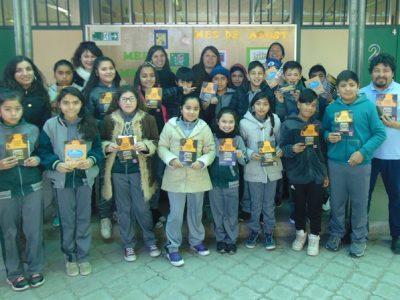 Escolares de Andacollo se suman a campaña
