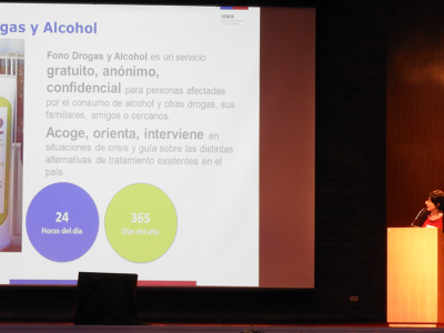 SENDA participó en seminario «Niños y Adolescentes libres de Alcohol y Drogas»