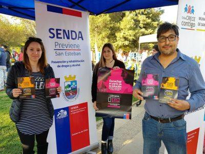 "Campaña ""Escuchar es parte de la solución"" de SENDA se difunde en San Esteban"
