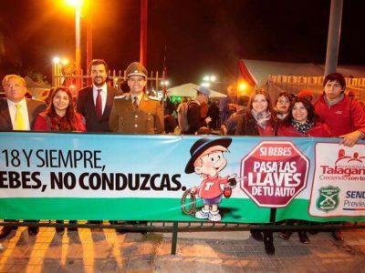 SENDA Previene Talagante difunde campaña  «Este 18 Cuida tus Límites»