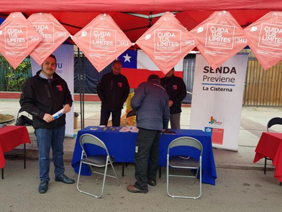 SENDA Previene La Cisterna difunde campaña «Este 18 Cuida tus Límites»