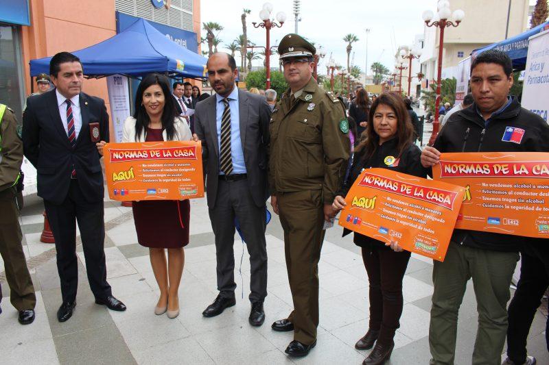 Autoridades regionales lanzan campaña de prevención y seguridad fiestas patrias 2017