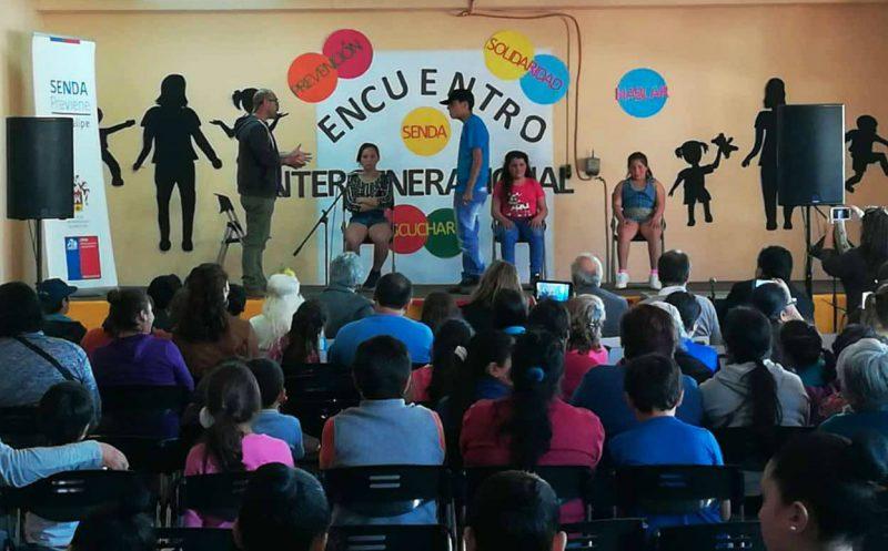 """Vecinos de """"Las 4 Villas"""" participan en el primer Encuentro Intergeneracional por la Prevención en San Felipe"""