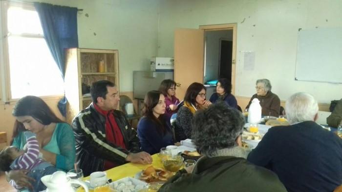 Vecinos y vecinas del sector Santa Mónica de La Unión participan de la Tercera Reunión de Consejo Territorial Preventivo.