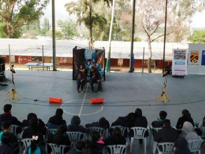 Estudiantes de Huechuraba disfrutan de obra preventiva