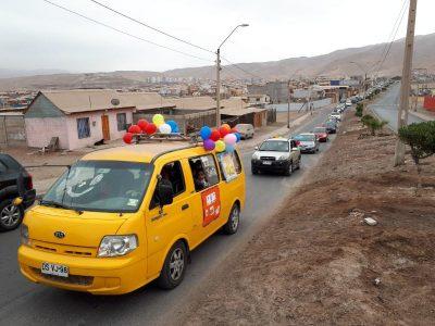 Escuela de Lenguaje Santa Lucía junto a Oficina SENDA Previene realizan Caravana preventiva
