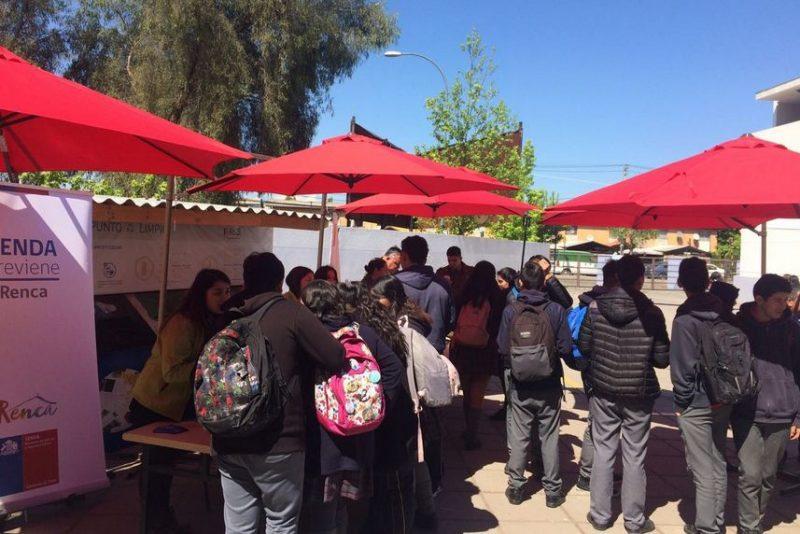 SENDA Previene Renca dialoga con comunidad escolar del Instituto Cumbre de Cóndores Poniente
