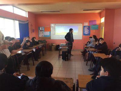 SENDA Previene Melipilla realiza taller a estudiantes del Colegio República de Brasil