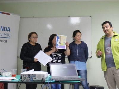 SENDA Previene trabaja junto a vecinos de la población Isla de Chiloé