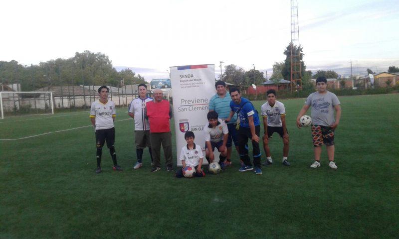 Con fútbol preventivo se desarrolla el programa Trabajar con Calidad de Vida en PYME en San Clemente