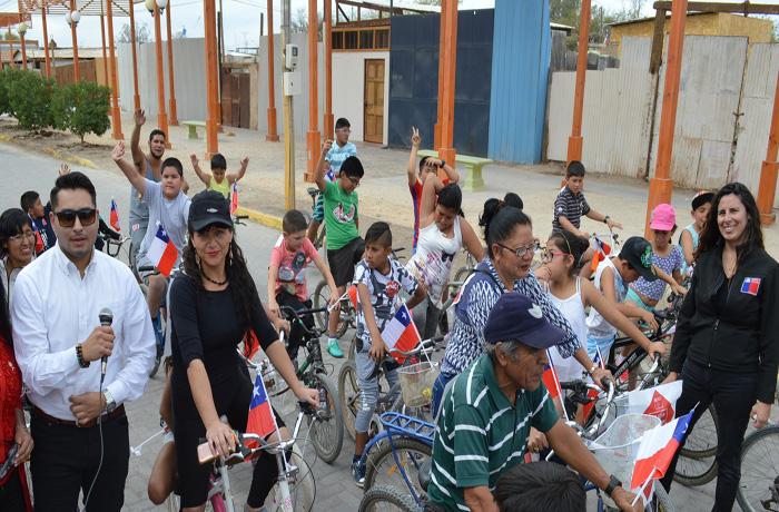 Con cicletada preventiva SENDA difundió campaña de alcohol en Huara