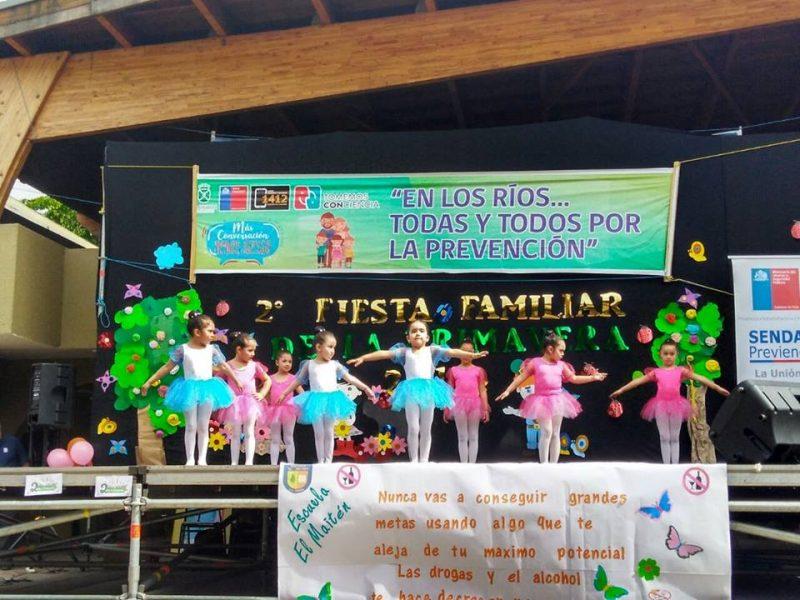 Con gran éxito SENDA Previene La Unión realizó nueva versión de la Fiesta Familiar de la Primavera