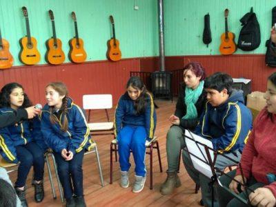 Estudiantes de los talleres de Radio de la Escuela Presidente Jorge Alessandri Rodríguez y del Colegio Honorio Ojeda Valderas compartieron sus experiencias
