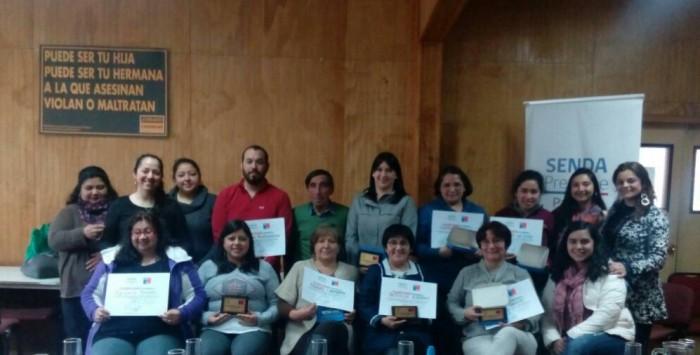 SENDA Previene Paillaco reconoció a actores claves en la prevención del consumo de sustancias