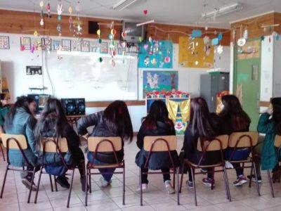 """Estudiantes del Liceo Rodulfo Amando Philippi realizaron taller sobre """"Género, Derechos Sexuales y Reproductivos""""."""
