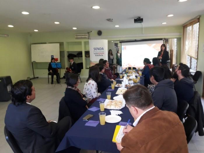 SENDA Previene Valdivia realizó jornada de reflexión en el marco de aniversario institucional