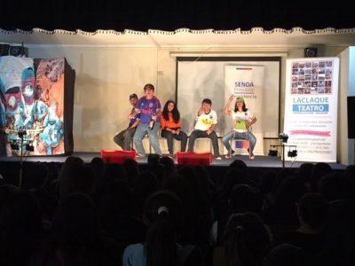Estudiantes de Providencia disfrutan de obra preventiva «Ni ahí»
