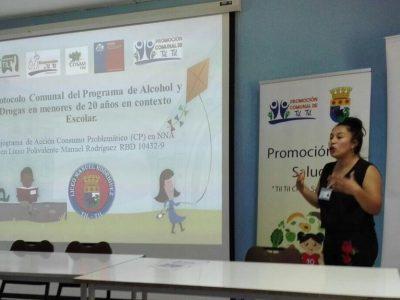 Liceo Polivalente Manuel Rodríguez recibe protocolo de acción del consumo problemático