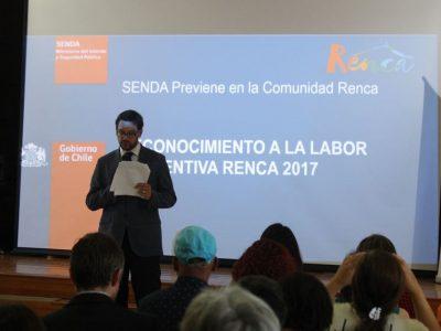 SENDA Previene Renca reconoce la labor preventiva de organizaciones