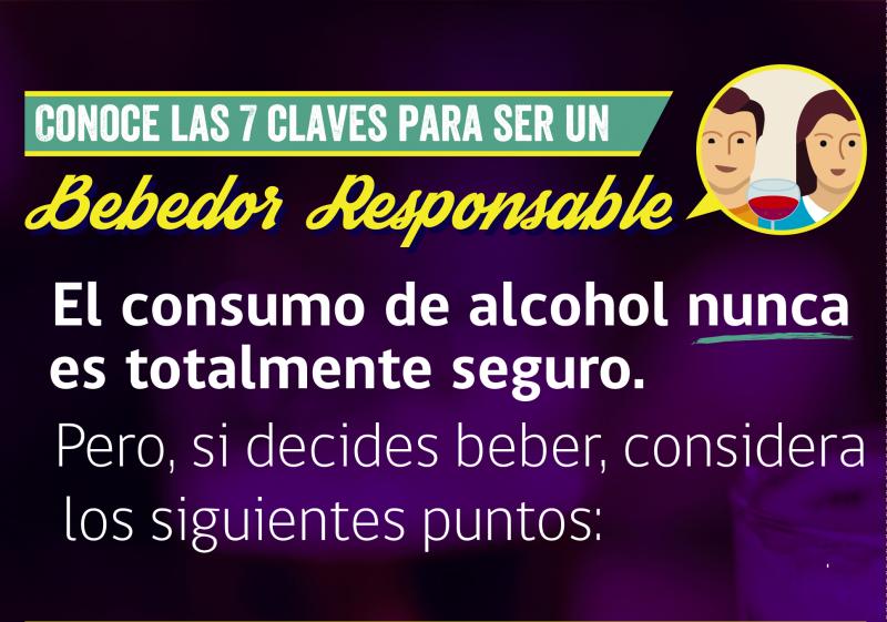 Conoce 7 claves para ser un bebedor responsable