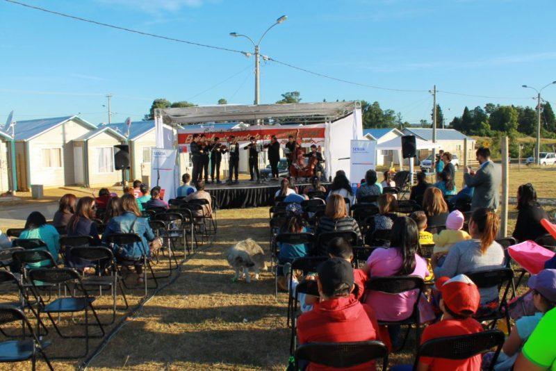 SENDA Los Ríos llevó concierto navideño a familias de Guacamayo en Valdivia