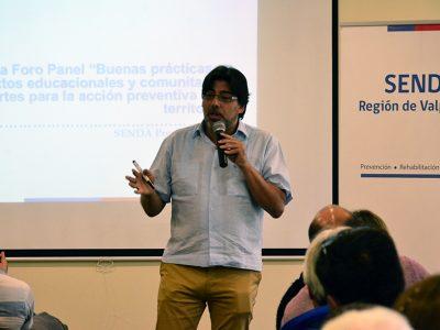 Alcalde Daniel Jadue participa en seminario de Senda Valparaíso que analiza experiencias de prevención en contextos educacionales y comunitarios