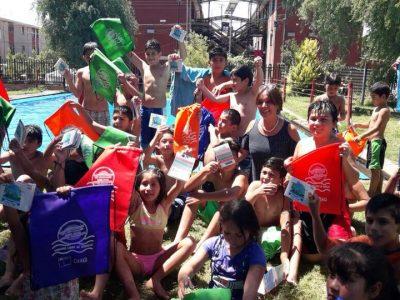 Colonias de niños de Parral recibieron mensajes preventivos y de autocuidado por parte del SENDA