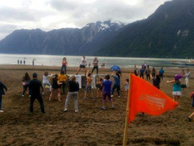 Senda Previene Aysen Desarrolla Campaña de Verano en Bahía Acantilada