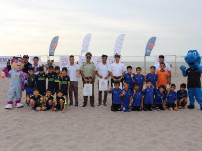 Senda lanzó campaña estival con campeonato de fútbol playa en Chinchorro