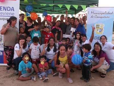 SENDA Previene Cauquenes dio inicio a la campaña de verano con un picnic preventivo junto a la comunidad Villa Alto del Río
