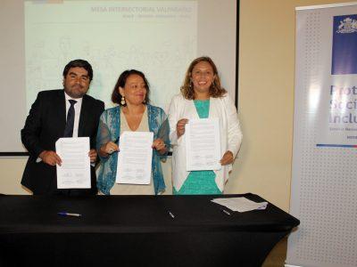 Sence, Senda, Senadis y Sernameg firman convenio de articulación regional en Valparaíso