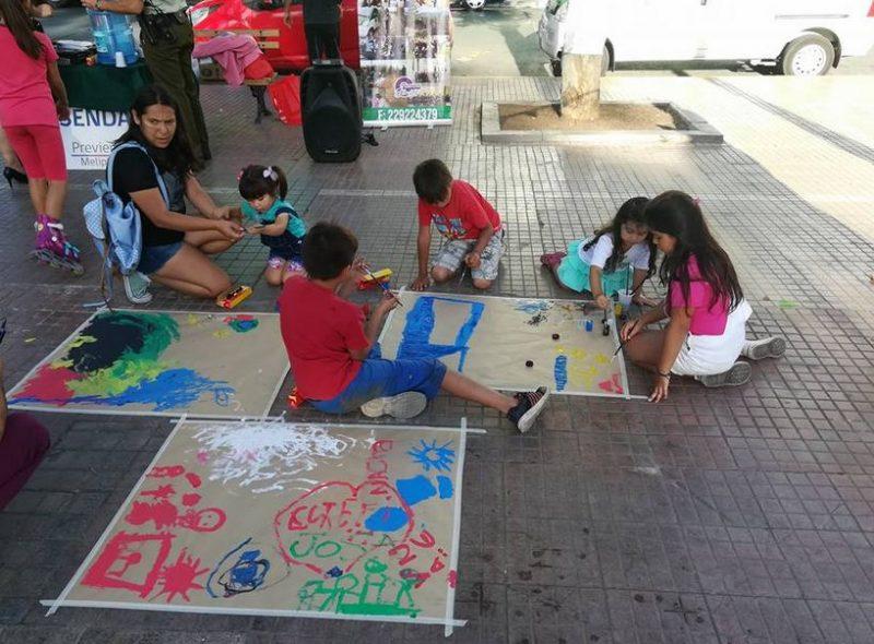Previene Melipilla reúne a niños, niñas y adolescentes en la plaza de armas