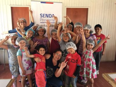Niños y niñas de Mirasol participaron en talleres de verano organizados por SENDA Previene Puerto Montt
