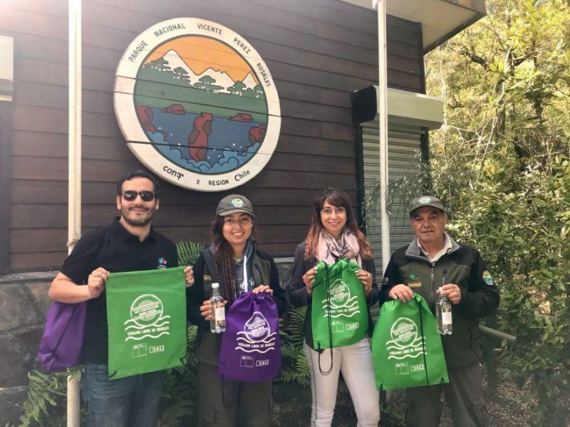"""SENDA Los Lagos promovió campaña """"Verano libre de drogas"""" en alrededores del Lago Llanquihue"""